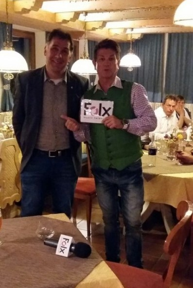 Bgm. Anton Steiner mit Sepp Mattlschweiger